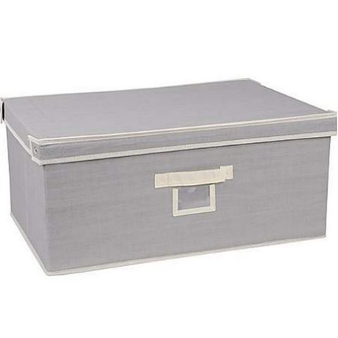 Boys Grey Storage Box Case Large